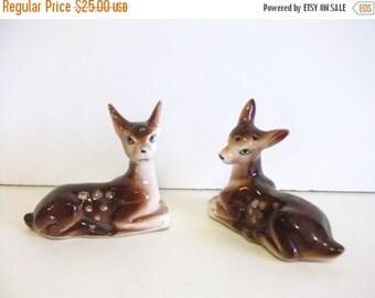SUMMER Sales Event Vintage Deer Salt and Pepper Shakers