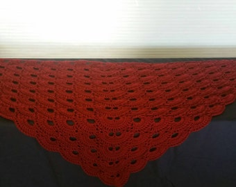 Gorgeous Red Shawl