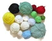 Yarn Destash, Scrap Yarn, Assorted Yarn, Leftover Yarn, Worsted Weight, Acrylic