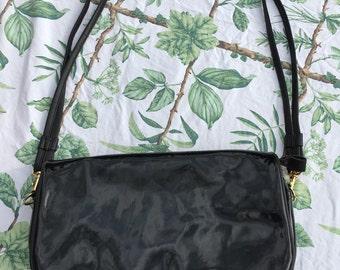 Patent leather black purse