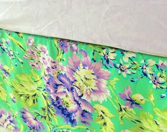 Tailored Crib Skirt, Purple Crib Skirt, Baby Dust Ruffle, Crib Skirt, Floral Crib Skirt, Girl Crib Skirt, Crib Dust Ruffle, Love Bliss