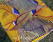 West African Wax Cotton Print Fabric - African Ankara Fabric - Kete Pa