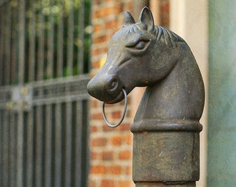 New Orleans Hitching Post Art, French Quarter Photograph. Affordable Home Decor, Louisiana Wall Art, Mardi Gras, Living Room Art