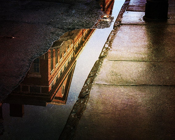 """Picture of New Orleans, French Quarter Photograph, """"Puddles of the Past"""" Print. Mardi Gras."""