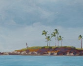 Across Kapalua - West Maui - Palm Trees - Original Painting