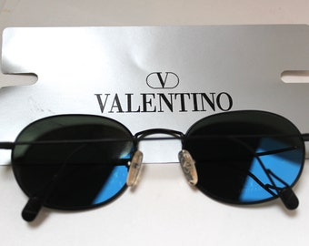 90s Valentino Sunglasses made in Italy ,Mint 90s /new old vintage stock/black metal frame/ol 20 s