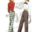 1940s Slacks Long Pants Pattern McCall g 6794 W28 H37
