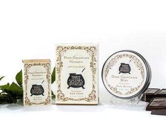 Three SIsters Dark Chocolate & Mint Boxed Gift Set