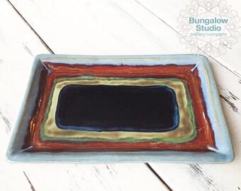 Unique Housewarming Gift, Ceramic Serving Tray, Ceramic Serving Platter