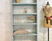 Painted Cottage Chic Shabby White Romantic French Bookcase / Display Cabinet BC36