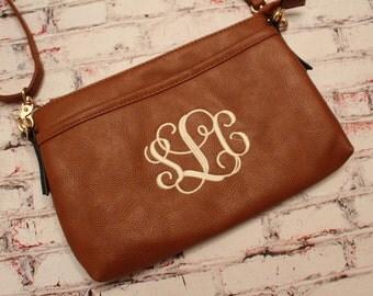Crossbody monogram bag. Crossbody purse. Personalized