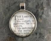 Vintage Bible Verse Pendant - Choose Your Verse