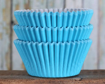 Blue Cupcake Liners, BakeBright Cupcake Liners, Bright Blue Cupcake Liners, Baking Cups, Cupcake Cases, Cupcake Wrappers (60)