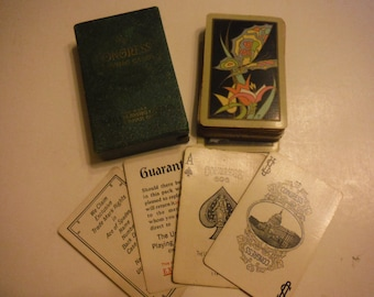 Art Deco Butterfly Deck of Playing Cards Congress Bridge 1926 Complete Set in Box Papillon