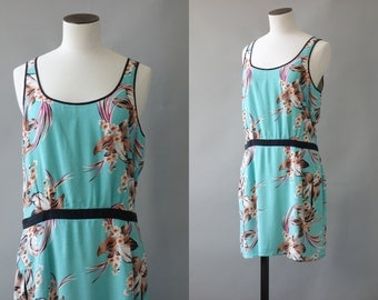 Alice dress   tropical print mini dress   1990's by Cubevintage   small to medium