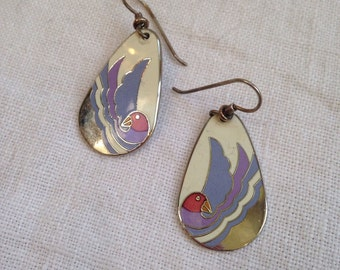 Laurel Burch Sea Bird Earrings