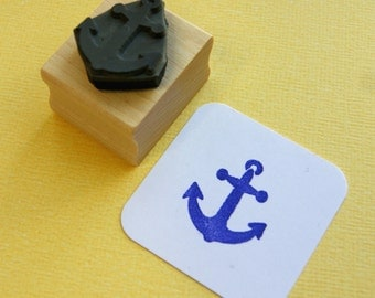 Small Anchor Rubber Stamp - Nautical Rubber Stamp - Sailing  - Sailor - Gift for Sailor - Nautical Wedding - Beach Rubber Stamp