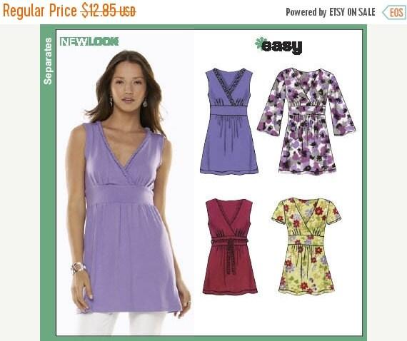Womens Tops EASY Pattern  Low Price  sz 8-10 UNCUT Pattern -- 40-70% off Pattern SALE