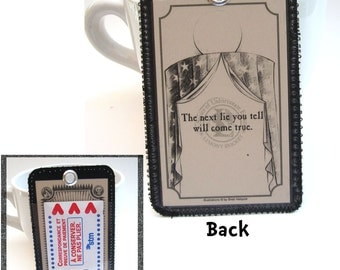 Recycled Metro or Bus Pass Holder / Bag Tag