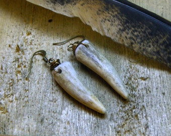 Beaumont The Fawn, Aspirations of a Stag. Rustic deer Antler earrings