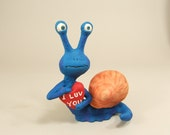 Valentine Day's Snail Sculpture