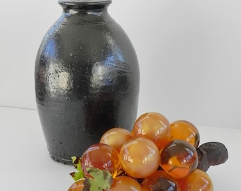 Lucite Grapes Bunch Cluster. Mid Century Amber Color Grapes for Home Decor.