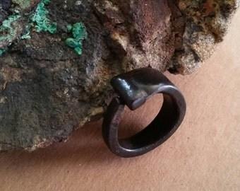 Nail Ring, black iron nail ring, masonry nail ring