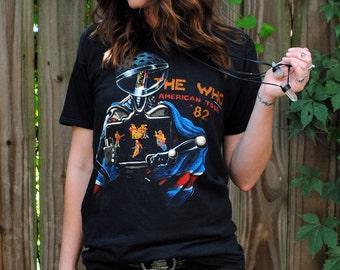 Vintage 1982 The Who American Tour Shirt- Size Medium Large