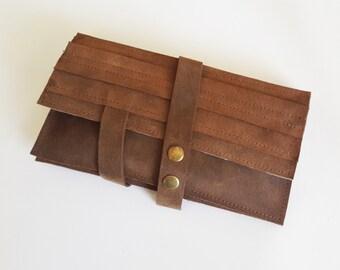 Brown wallet - leather women wallet