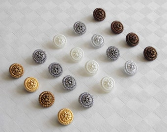 20 beautiful glass buttons with attractive made surfaces -  diff. colors - (18 mm - 11/16 in.)