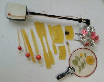 Vintage Kanzashi and Hair Sticks for Japanese Doll