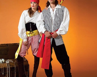 McCall's sewing pattern M4952 | Adult costume | Halloween | Be a Pirate | Women and men | Sizes Sml-Xlg | Ready to ship!