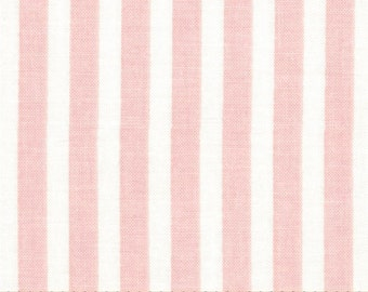 Lost and Found Love Riley Blake Fabric Light Pink and Cream Stripes 4 per inch