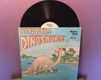 FINAL SALE Vinyl Record Album Dynamic Dinosaurs LP 1980s Children's Educational