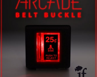 Arcade Belt Buckle... that lights up - ATARI