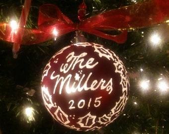Custom light up Christmas ornament