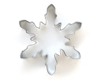 Large Snowflake Cookie Cutter, Christmas Cookie Cutter, Large Winter Snowflake Cookie Cutter