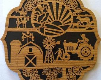 High Quality Handmade Scroll Saw Wall Art By