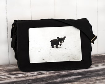 French Bulldog Messenger Bag -  Canvas Bag