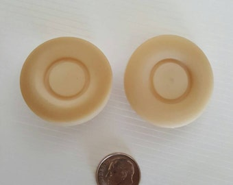 2 Large cream shank buttons