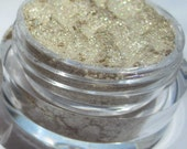Pale Yellow Bright Gold Glitter Vegan Mineral Makeup Eye Shadow Light Shimmer - Star-Powdered