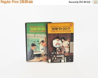 """ON SALE Vintage Set of DIY Books """"How-To-Do-It Encyclopedia"""""""