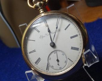 Large Elgin Nat'l Pocket Watch 15 Jewels Pocket Watch-Just Serviced