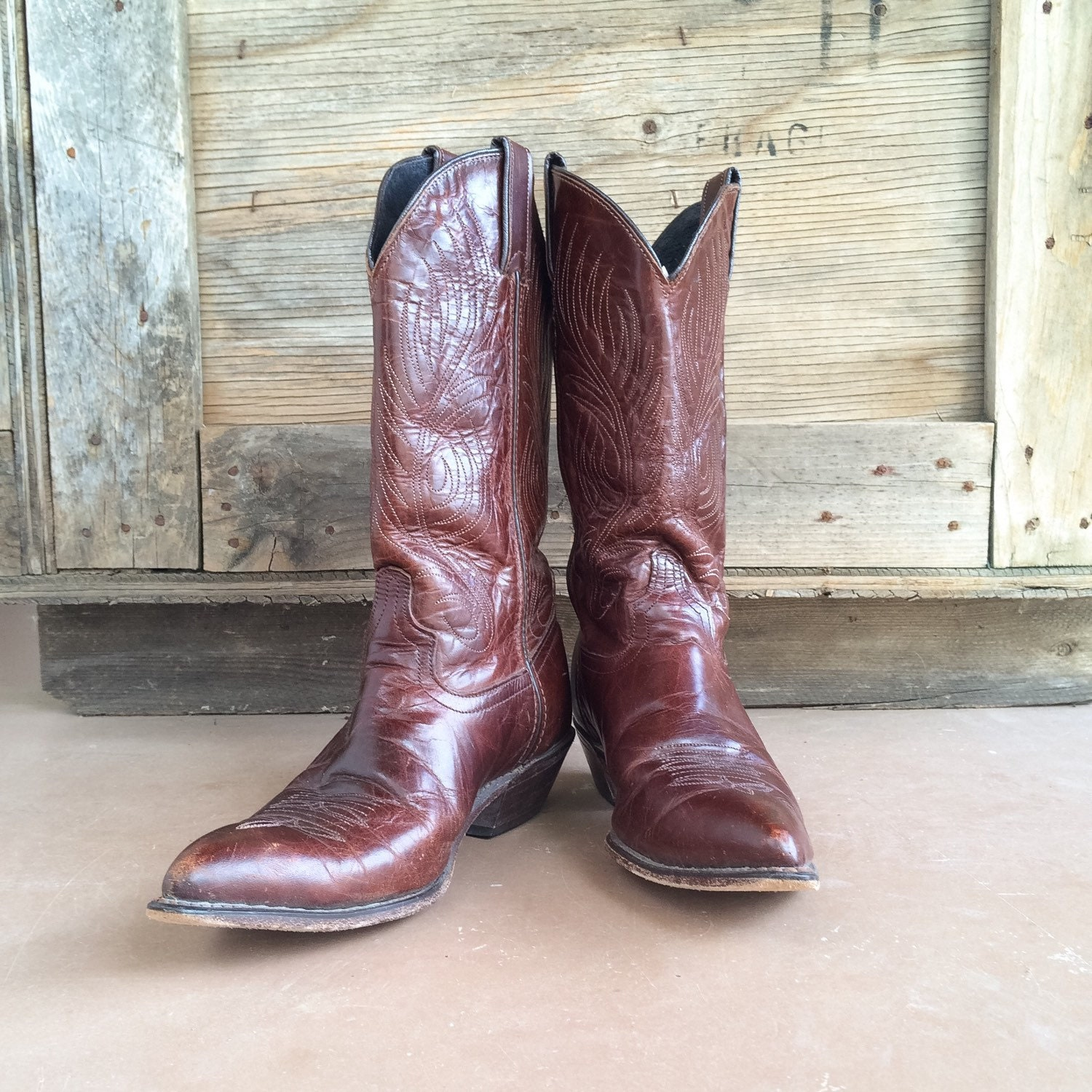 vintage s cowboy boots size 8 m fits up to 8 5
