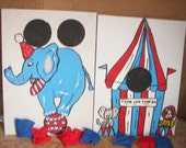 New 2  games  blue  elephant  and  tent      circus  games with   8 bean bags