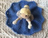 Crochet Cinderella Lovey, Security Blanket, baby shower gift, princess nursery, disney baby gift, Prop, crochet blanket, Cinderella