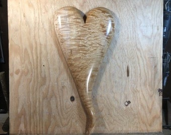 Wooden heart wood carving wall hanging special Anniversary present best gift ever carved wood heart
