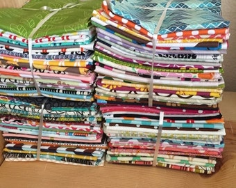SuperBowl Sale Poppyseed Fabric Fat Quarter bundle Special, 32 fabrics of assorted in stock and past prints, Great deal....