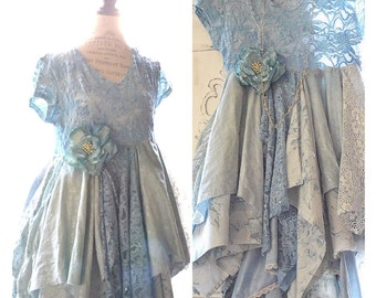 Large Sexy Dress, French country Boutique dress, ruffle slip dress, Serenity Lace dress, Bohemian lace dresses, Shabby True rebel clothing