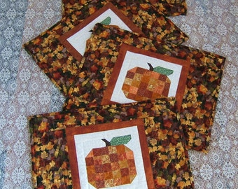 Pumpkin Place Mats (Set of four) (Item #66)